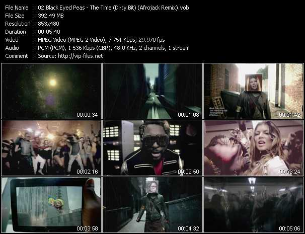 video The Time (Dirty Bit) (Afrojack Remix) screen
