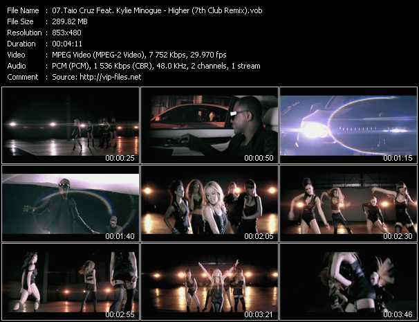 download Taio Cruz Feat. Kylie Minogue « Higher (7th Club Remix) » video vob