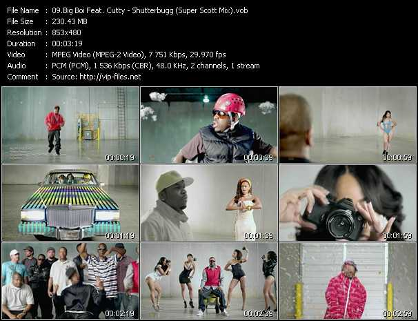 download Big Boi Feat. Cutty « Shutterbugg (Super Scott Mix) » video vob