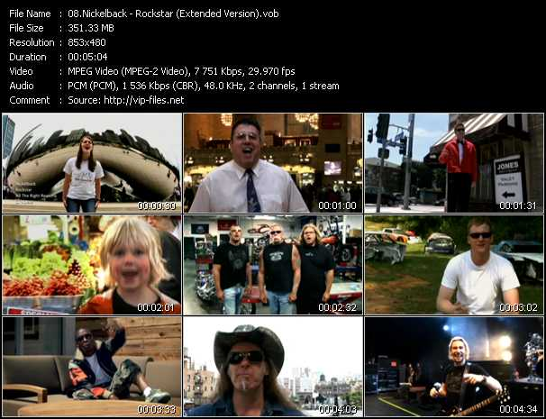 video Rockstar (Extended Version) screen