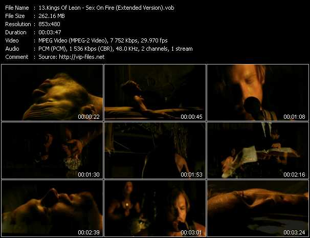 download Kings Of Leon « Sex On Fire (Extended Version) » video vob