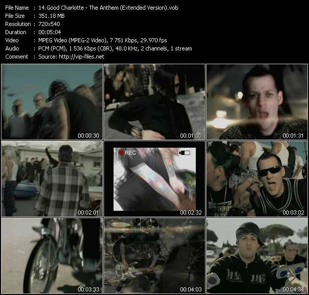 video The Anthem (Extended Version) screen