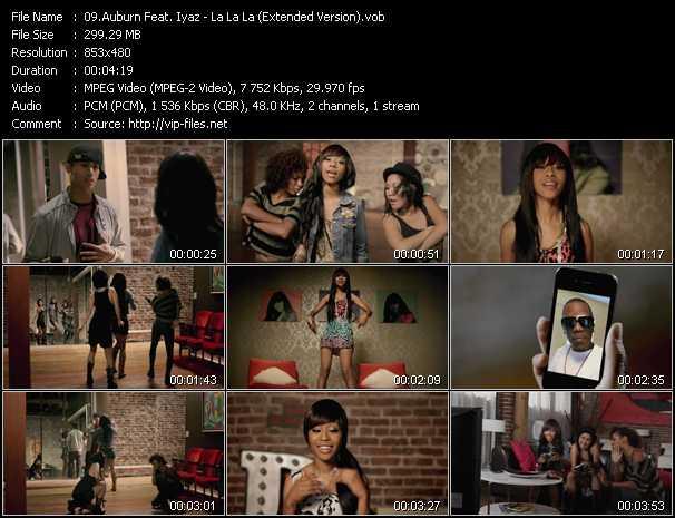 download Auburn Feat. Iyaz « La La La (Extended Version) » video vob
