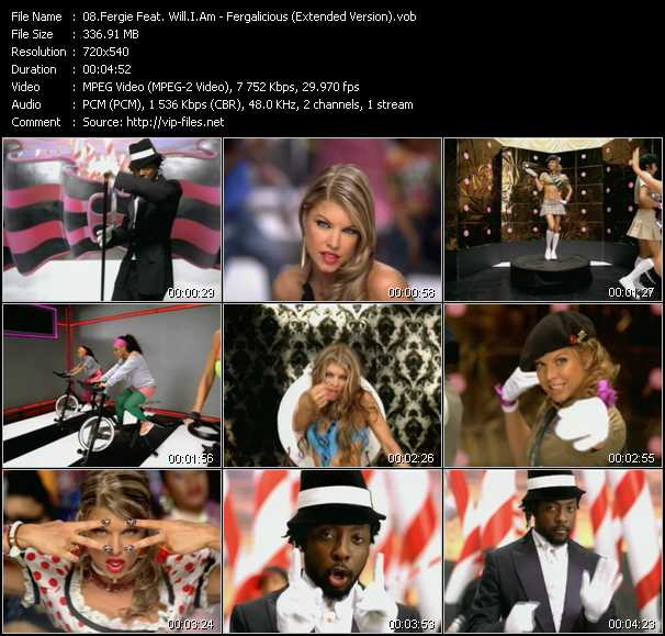 download Fergie Feat. Will.I.Am « Fergalicious (Extended Version) » video vob