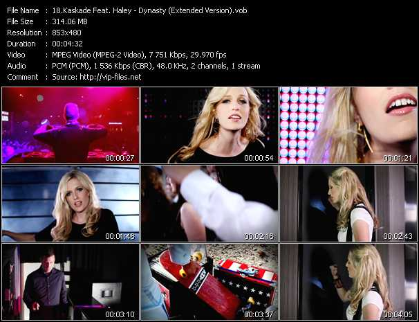 download Kaskade Feat. Haley « Dynasty (Extended Version) » video vob