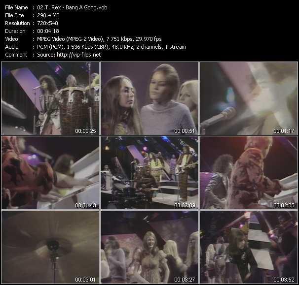 download T. Rex « Bang A Gong » video vob