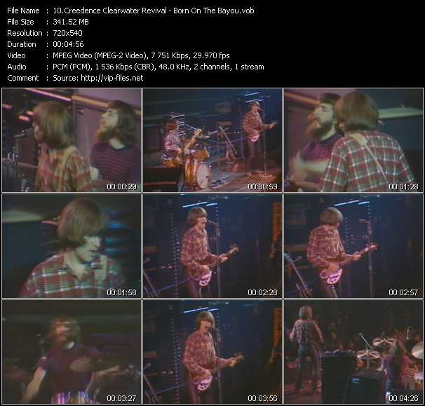 download Creedence Clearwater Revival « Born On The Bayou » video vob