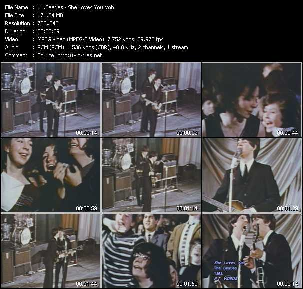 download Beatles « She Loves You » video vob