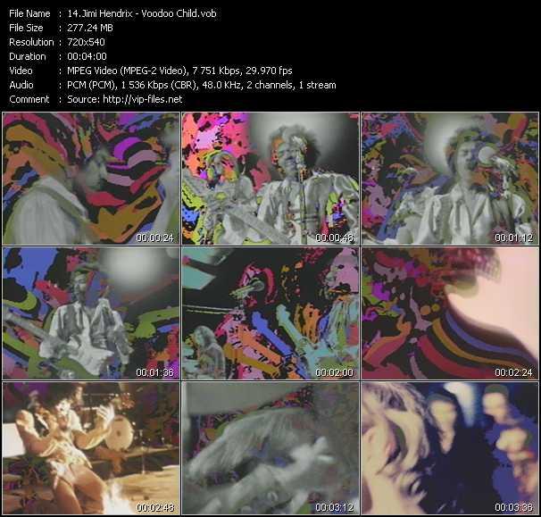download Jimi Hendrix « Voodoo Child » video vob