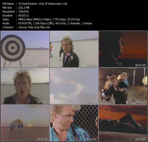 download Red Rockers « Eve Of Destruction » video vob