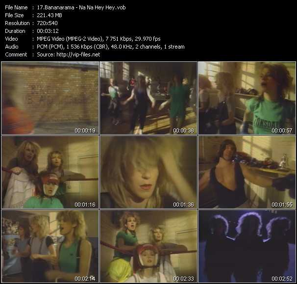 download Bananarama « Na Na Hey Hey » video vob