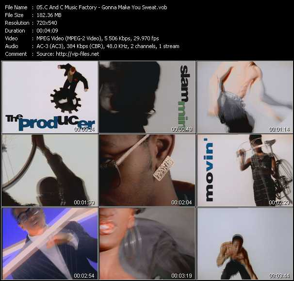 download C And C Music Factory « Gonna Make You Sweat » video vob