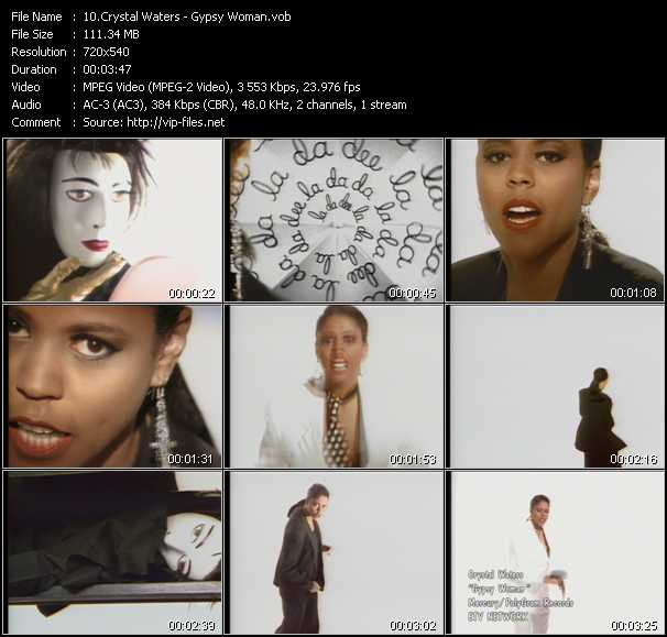 download Crystal Waters « Gypsy Woman » video vob