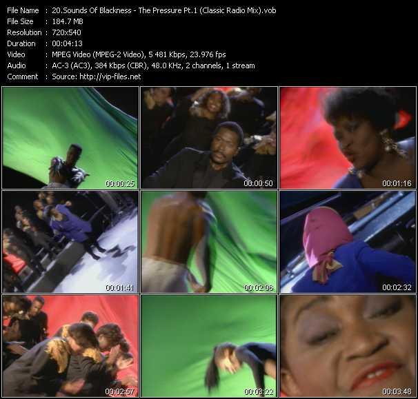download Sounds Of Blackness « The Pressure Pt.1 (Classic Radio Mix) » video vob