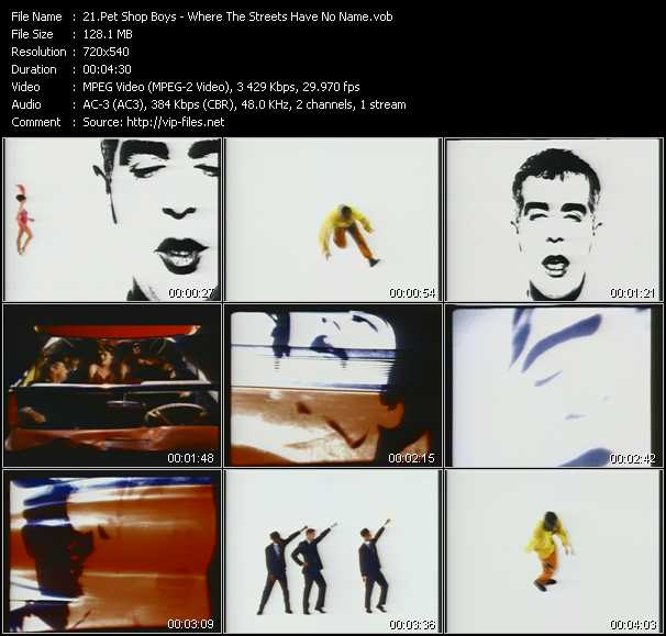 download Pet Shop Boys « Where The Streets Have No Name » video vob