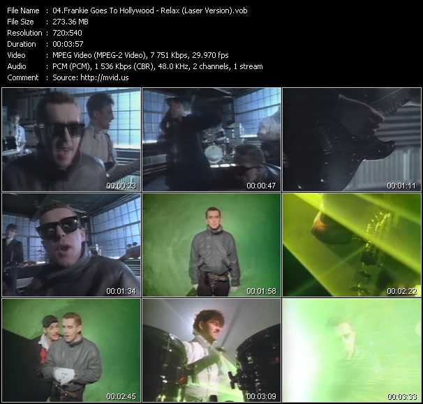 download Frankie Goes To Hollywood « Relax (Laser Version) » video vob