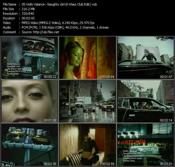 download Holly Valance « Naughty Girl (K-Klass Club Edit) » video vob