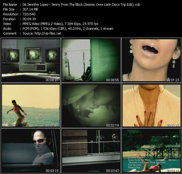 download Jennifer Lopez « Jenny From The Block (Seismic Crew Latin Disco Trip Edit) » video vob