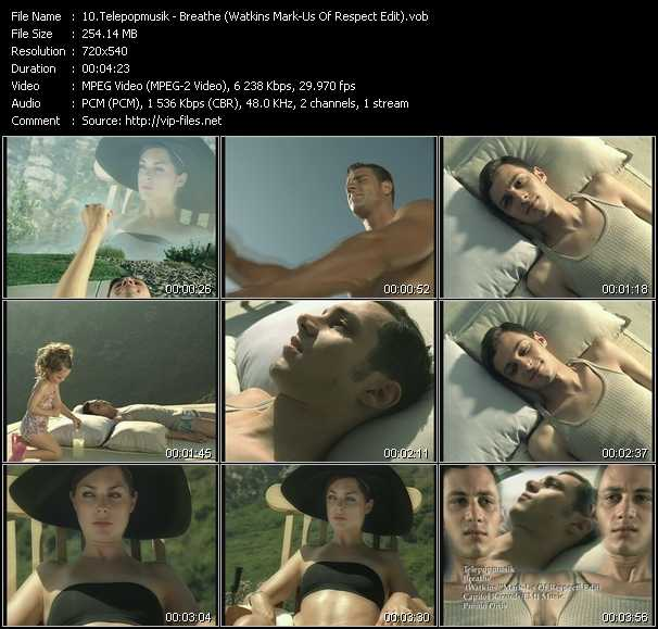 video Breathe (Watkins Mark-Us Of Respect Edit) screen