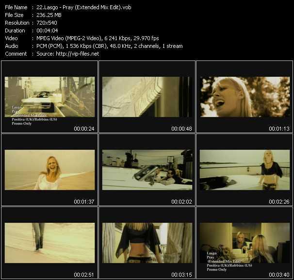 download Lasgo « Pray (Extended Mix Edit) » video vob