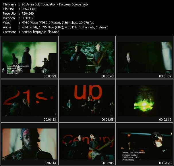 download Asian Dub Foundation « Fortress Europe » video vob