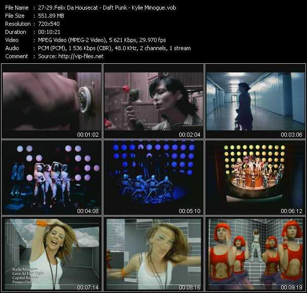 download Felix Da Housecat - Daft Punk - Kylie Minogue « Silver Screen - Around The World - Love At First Sight » video vob