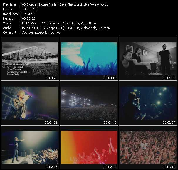 video Save The World (Live Version) screen