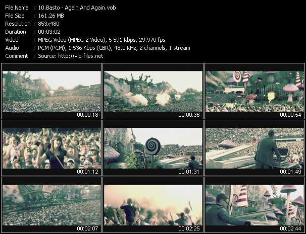 download Basto! « Again And Again » video vob