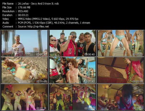 download Lmfao « Sexy And I Know It » video vob