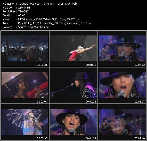 video Diary screen