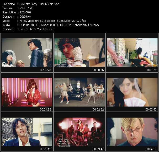 download Katy Perry « Hot N Cold » video vob