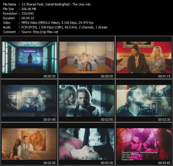 download Sharam Feat. Daniel Bedingfield « The One » video vob