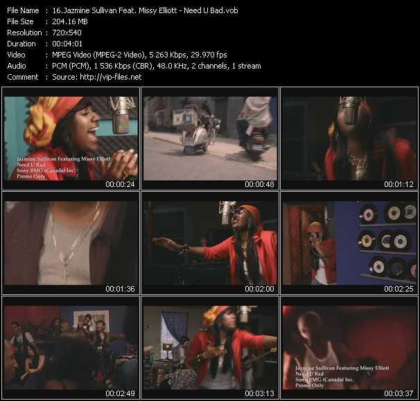 download Jazmine Sullivan Feat. Missy Elliott « Need U Bad » video vob