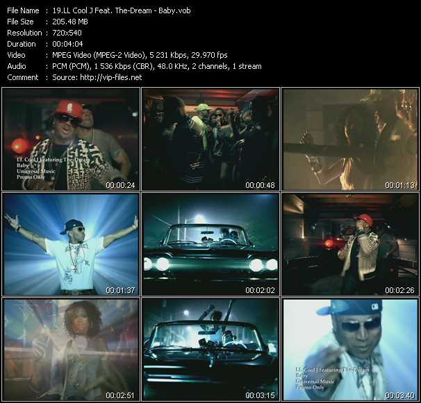 download LL Cool J Feat. The-Dream « Baby » video vob