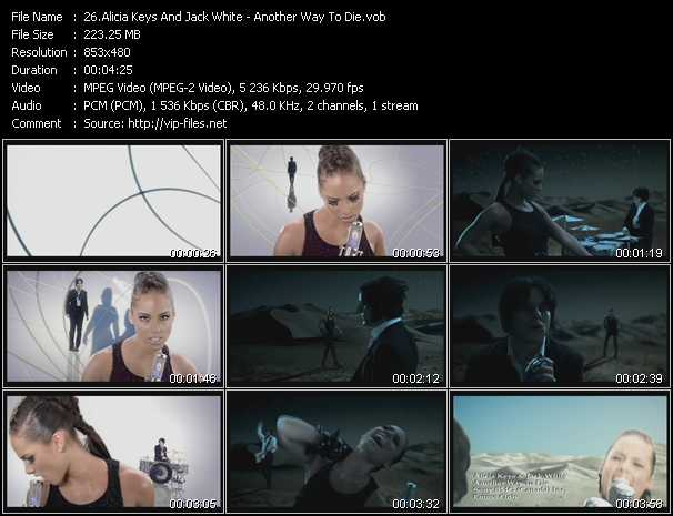 download Alicia Keys And Jack White « Another Way To Die » video vob