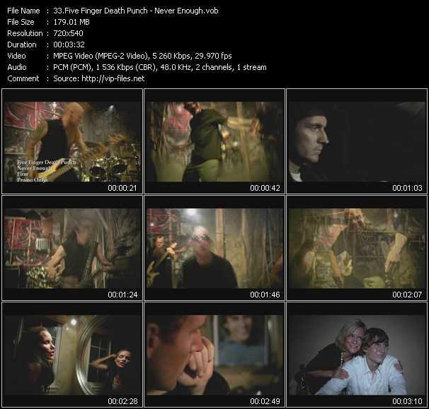 download Five Finger Death Punch « Never Enough » video vob