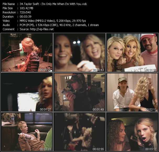 video I'm Only Me When I'm With You screen
