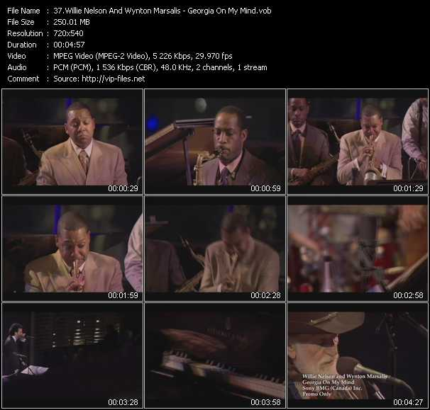 download Willie Nelson And Wynton Marsalis « Georgia On My Mind » video vob
