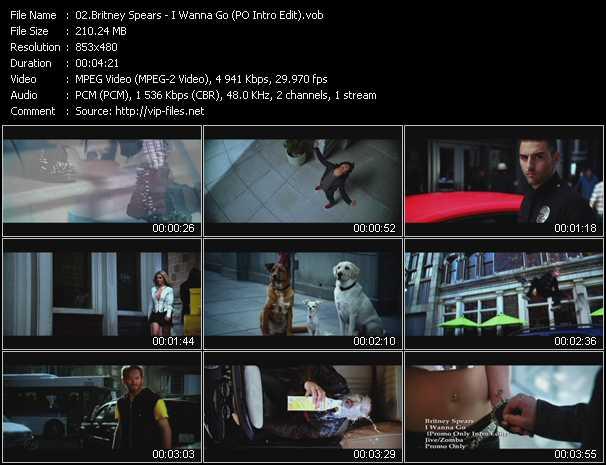 download Britney Spears « I Wanna Go (PO Intro Edit) » video vob