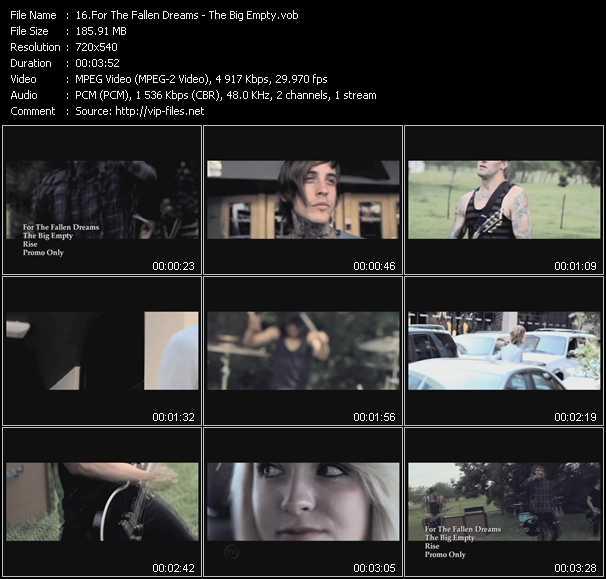 download For The Fallen Dreams « The Big Empty » video vob