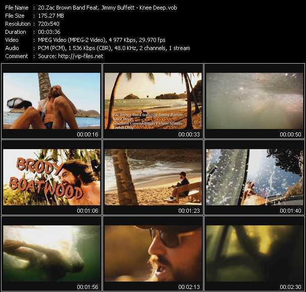 download Zac Brown Band Feat. Jimmy Buffett « Knee Deep » video vob