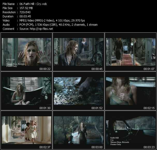 download Faith Hill « Cry » video vob