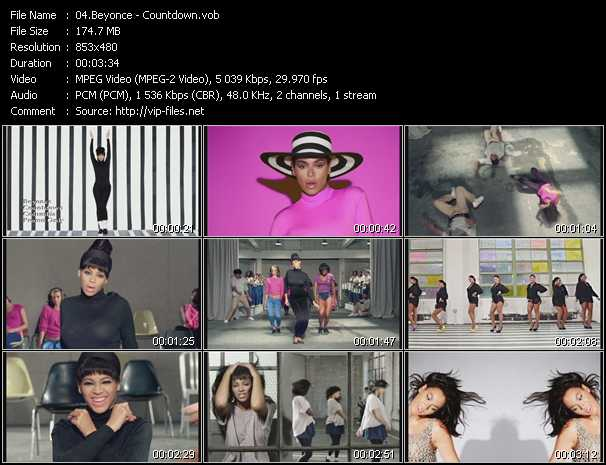 download Beyonce « Countdown » video vob