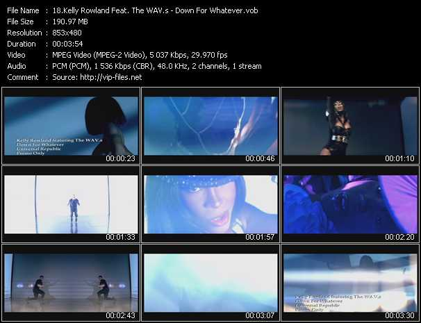 download Kelly Rowland Feat. The Wav.S « Down For Whatever » video vob