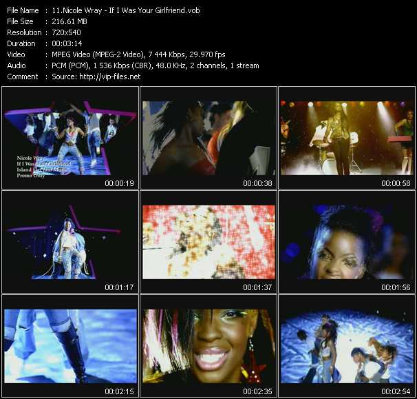 download Nicole Wray « If I Was Your Girlfriend » video vob