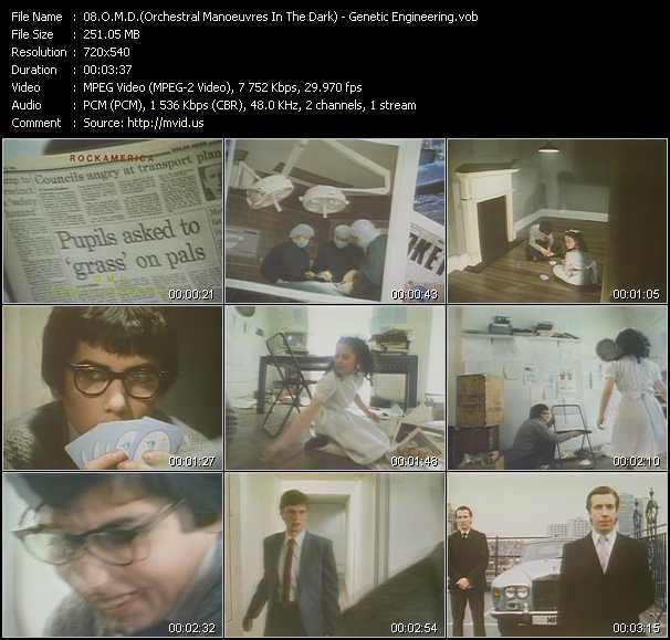 download O.M.D. (Orchestral Manoeuvres In The Dark) « Genetic Engineering » video vob