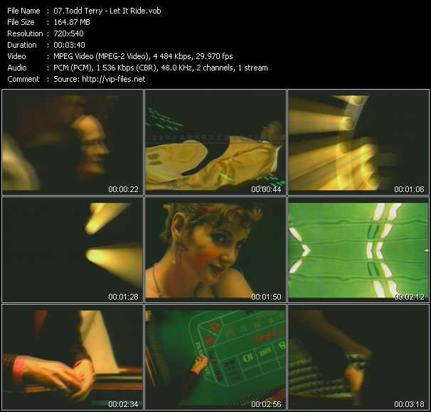 download Todd Terry « Let It Ride » video vob