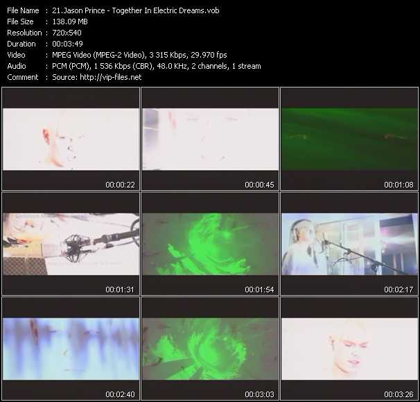 download Jason Prince « Together In Electric Dreams » video vob