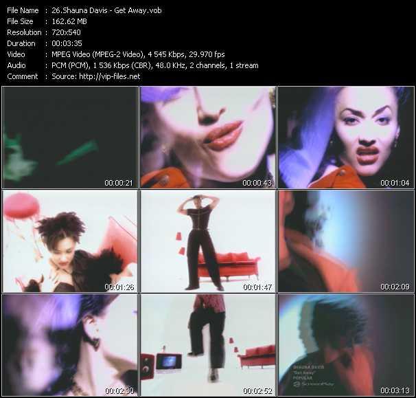 download Shauna Davis « Get Away » video vob