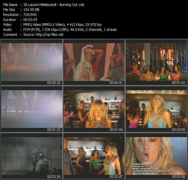 download Lauren Hildebrandt « Burning Out » video vob